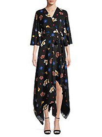 Solace London Darlina Asymmetric Floral Dress