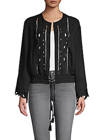 Dolce Cabo Embroidered Cutout Jacket