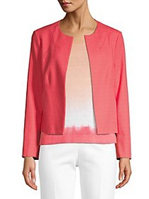 Piazza Sempione Open Front Cotton-Blend Jacket