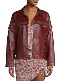 Ramy Brook Parker Fringe Leather Jacket