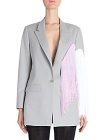 Each X Other Fringe Colorblock Wool Jacket