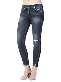 AMO Twist Ripped Skinny Ankle Jeans