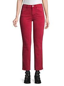3x1 Stevie Cropped Straight-Leg Jeans