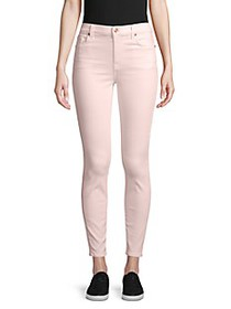 7 For All Mankind High-Rise Colored Skinny Ankle J