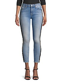 7 For All Mankind Ankle Beaded Skinny Jeans