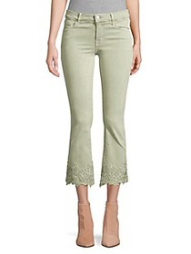 J Brand Selena Mid-Rise Crop Bootcut Floral Lace H