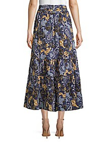 Walter Baker Tiered Paisley Skirt