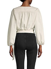 Free People Cropped Cotton Wrap Top