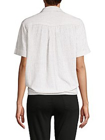 French Connection Striped Tie-Waist Shirt