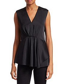 3.1 Phillip Lim V-Neck Peplum Blouse