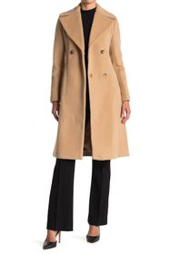 Donna Karan Belted Suri Alpacdy Wool Blended Coat