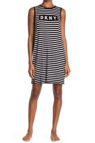 DKNY Stripe Logo Sleep Dress