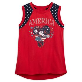 Disney Minnie Mouse America Tank Top for Girls – D