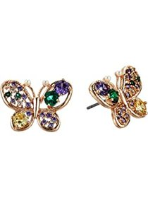 Betsey Johnson CZ Multi Butterfly Stud Earrings