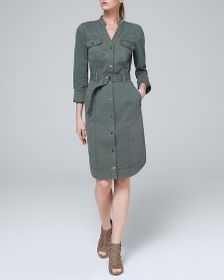 Shirt Dress with Removable Belt