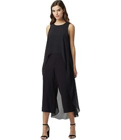 Tahari by ASL Short Sleeve Fly Away Jumpsuit