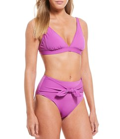 Cremieux Solid Tall Triangle Bralette Swimsuit Top