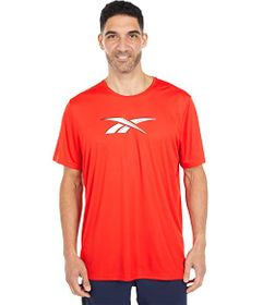 Reebok Workout Ready Poly Graphic Short Sleeve Tee