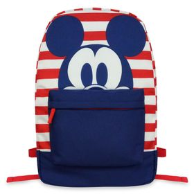 Disney Mickey Mouse Striped Backpack