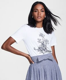 Brooks Brothers Toile Graphic T-Shirt