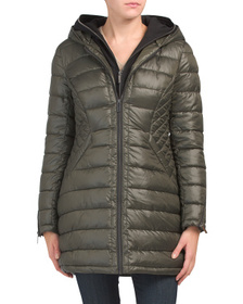 Quilted Hoodie Lined Coat