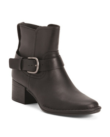 Reveal Designer Ankle Booties With Side Zipper And
