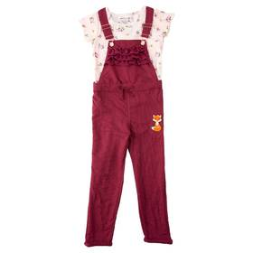 Girls (4-6x) Colette Lilly 2pc. Fox Overall Set