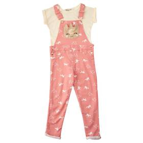 Girls (4-6x) Colette Lilly 2pc. Unicorn Overall Se