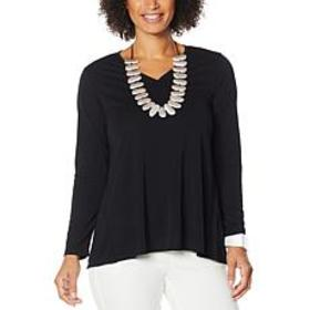 """As Is"" MarlaWynne Luxe Jersey V-Neck Butterfly Te"