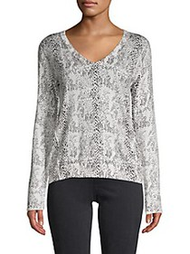 ATM Anthony Thomas Melillo Snake-Print Sweater
