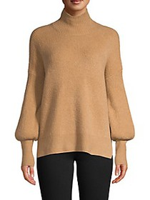 French Connection Camel Flossy Turtleneck
