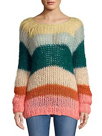 Maiami Mohair Multicolored Stripe Sweater