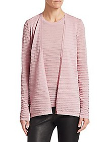 Saks Fifth Avenue COLLECTION Ribbed Merino Lurex C
