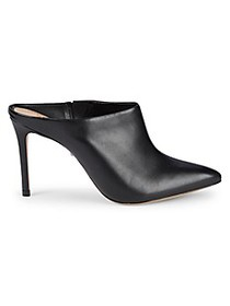 Schutz Point Toe Leather Mules