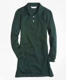Brooks Brothers Girls Long-Sleeve Polo Dress