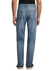 7 For All Mankind Vintage Straight-Fit Distressed