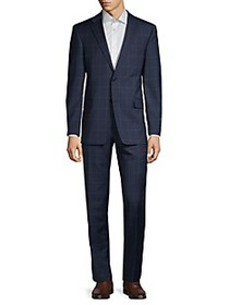Tommy Hilfiger Standard-Fit Windowpane Check Suit