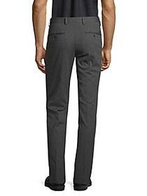 HUGO Slim-Fit Micro Pattern Cotton Trousers