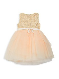 Tutu Couture Little Girl's Metallic Floral Tulle D