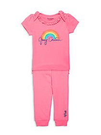Juicy Couture Baby Girl's 2-Piece Rainbow Graphic