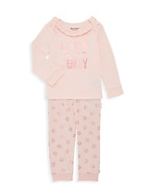 Juicy Couture Baby Girl's 2-Piece Top & Pant Set