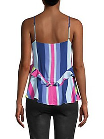 Parker Striped Ruffle Top