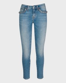7 For All Mankind Ankle Skinny with Braided Pocket