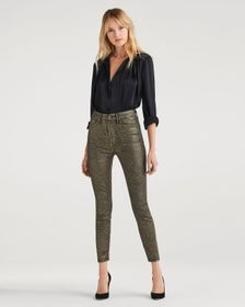 7 For All Mankind High Waist Ankle Skinny in Coate