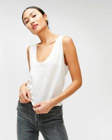 7 For All Mankind Vintage Crop Tank Sweater in Sof