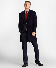 Brooks Brothers Single-Breasted Wool Topcoat