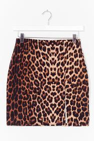 Nasty Gal Brown In my Fantasy Leopard Mini Skirt