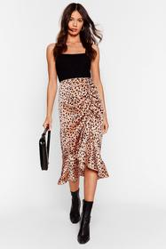 Nasty Gal Brown Meow Does She Do It Leopard Midi S