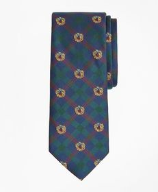 Brooks Brothers Plaid with Wreath Tie