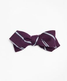 Brooks Brothers Stripe Pointed End Bow Tie